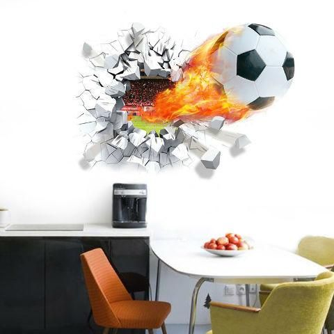 Goal !!! This 3D animated decal bring up the sporty atmosphere in your kid's room. Lets the passion on soccer motivate your kids! It's easy to apply and just si