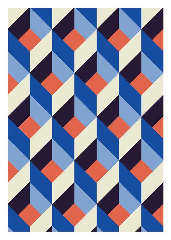 geometric pattern, durido on Etsy