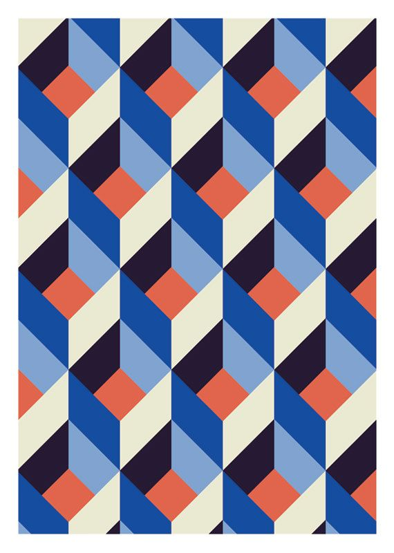 E. múltiple repetición. Abstract print by DURIDO (Mojca Dolinar), in Ljubljana, Slovenia