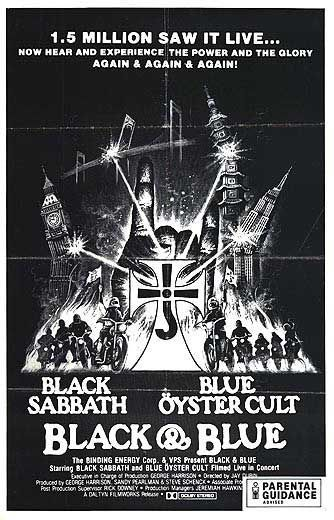 Blue Öyster Cult and Black Sabbath concert film poster