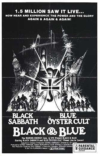 Blue Öyster Cult and Black Sabbath concert film poster
