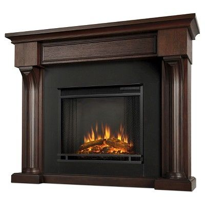 Real Flame - Verona Electric Fireplace-Chestnut Oak, Chestnut Oak
