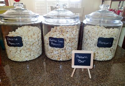 Popcorn Bar.... perfect for movie nights!  :)