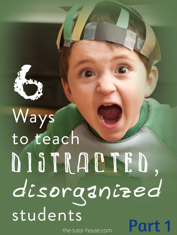 A post about how to help students that are distracted and disorganized.