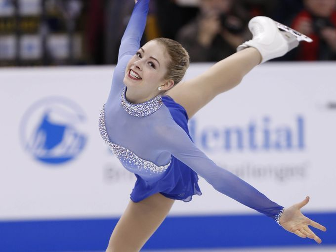 Love the single piece, seam free sleeves and upper bodice.  Gracie Gold performs during the ladies free skate at the 2014 U.S ...