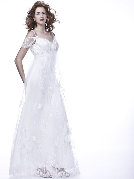 Quot Wysteria Quot Long White Wedding Dress With Cut Peekaboo Off