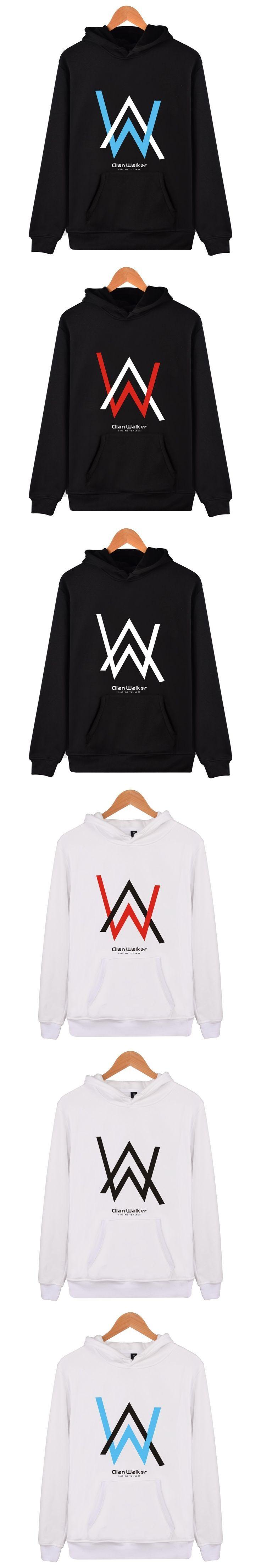 Alan Walker Electronic Music Hooded Hoodies Men Hip Hop Fashion Funny Sweatshirt Men Black Popular Singer High Quality Clothes