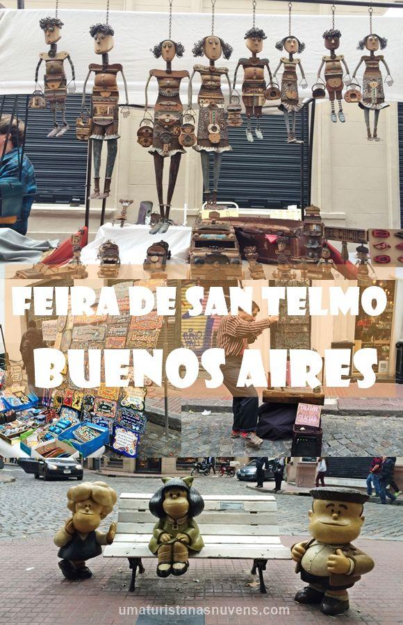 A feira de San Telmo em Buenos Aires é uma feira de antiguidades mais tradicionais da cidade portenha. Um dos passeios mais procurados aos domingos pelos milhares de turistas que visitam a capital da Argentina.