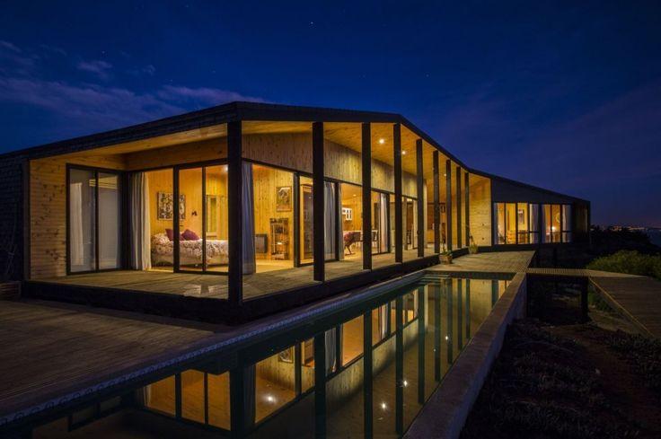 OFArquitectos - Casa Ensignia Gerber, Tunquen, Chile (2012) #houses