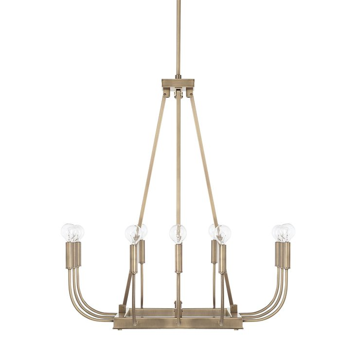 Ferguson showrooms chic lines and a timeless aged brass finish give our zander 12 light