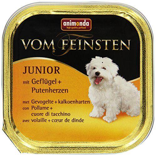 Aus der Kategorie Nassfutter  gibt es, zum Preis von EUR 14,49  Auf die besonderen Ernährungsbedürfnisse von Welpen und jungen Hunden ist Animonda Vom Feinsten Junior abgestimmt. Die Herstellung erfolgt pur aus fleischigen Rohstoffen, ohne Getreide, Soja, Zucker, künstlichen Farb- und Konservierungsstoffen. Für Abwechslung sorgen drei Varietäten.<br /> <br /> Zusammensetzung:<br /> <br /> <br /> Animonda Vom Feinsten Junior mit Rind + Geflügel 150 g: Fleisch und tierische Nebenerzeugnisse…