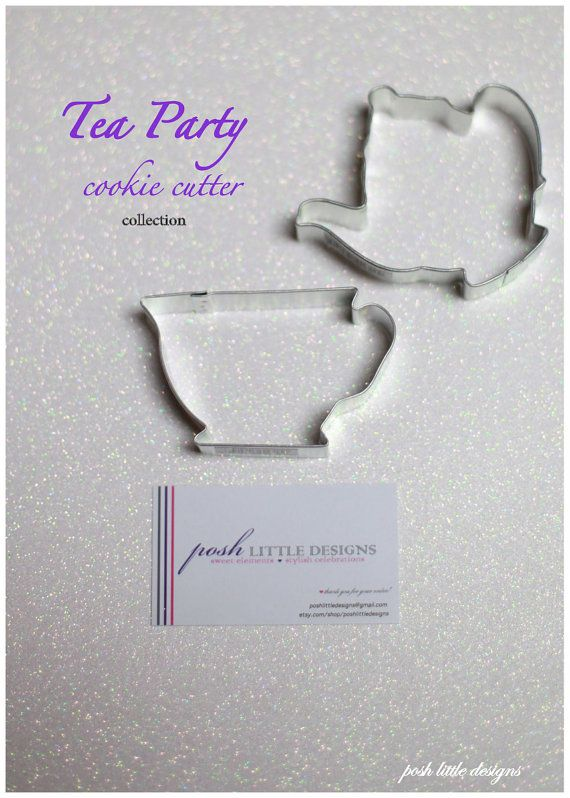 It want them! Tea Party Cookie Cutter Collection Set  2 by PoshLittleDesigns, $3.85