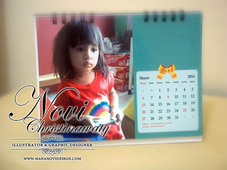 kalender anak ukuran 15x11 cm