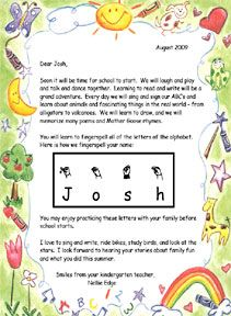 Best Welcome Letters Images On   Kindergarten Welcome