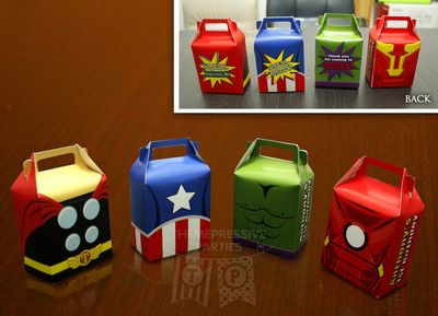 Baby Avengers PERSONALIZED Assembled Favor Boxes (Jumbo 35 pieces) Birthday…