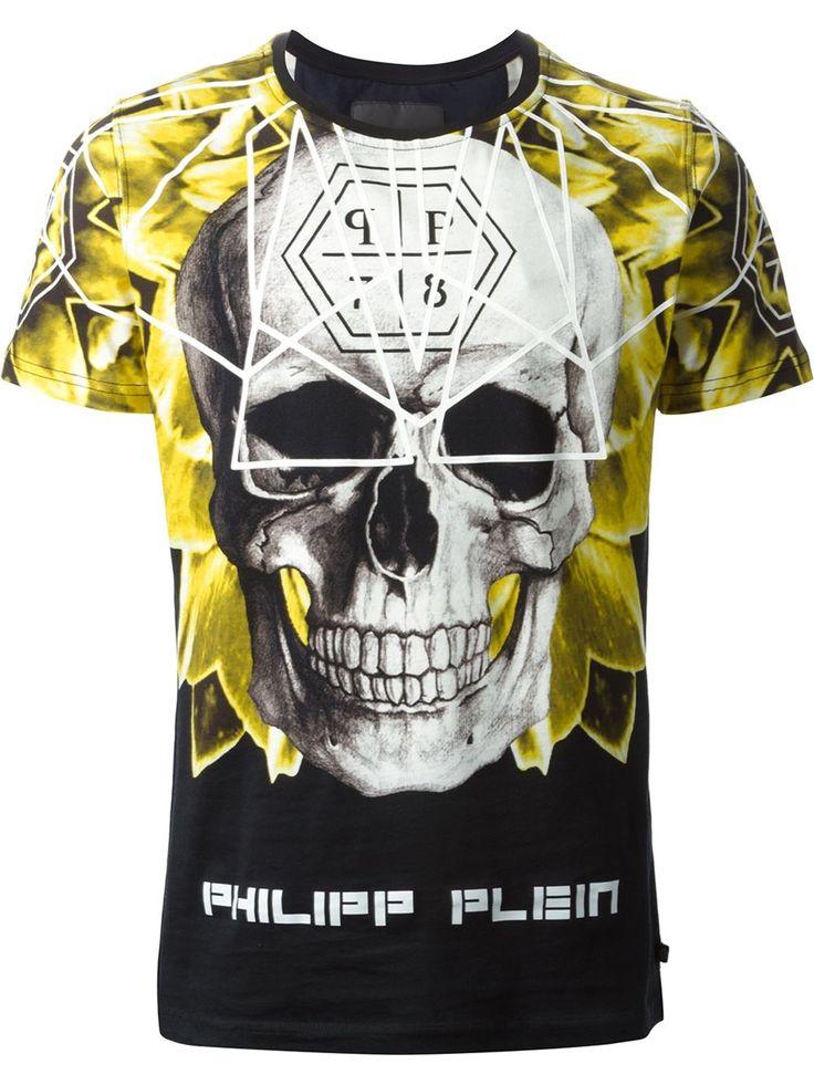 Philipp Plein 'geo Skull' T-shirt - Eraldo - Farfetch.com ...