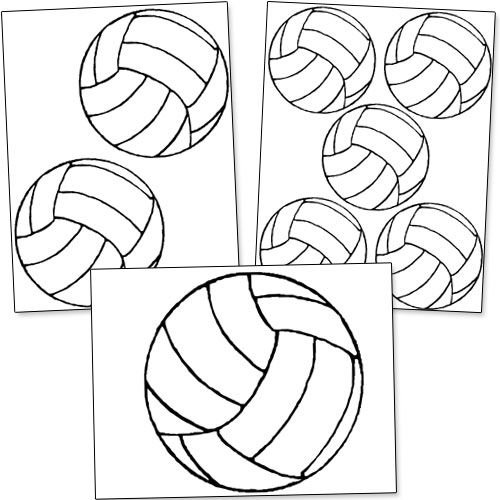 printable volleyball template