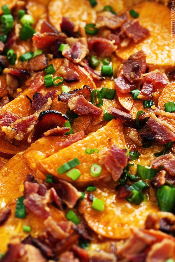 Loaded Scalloped Sweet Potato Casserole