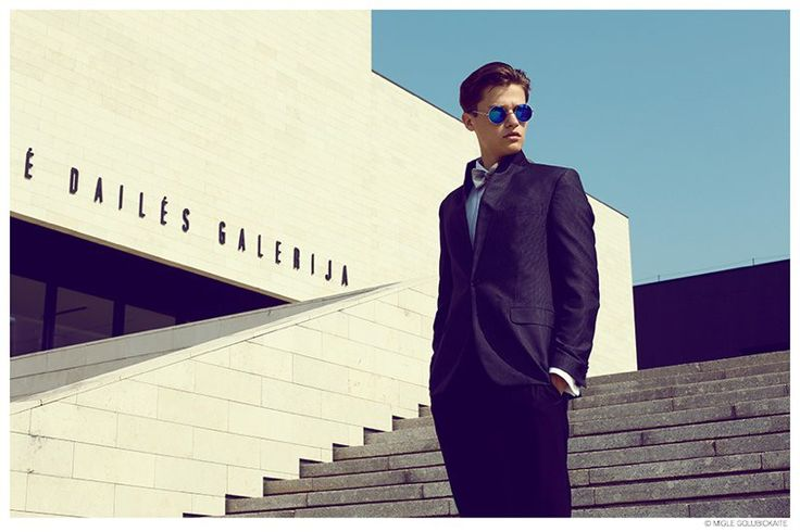 Karolis Inokaitis Models Trim Tailored Suiting from Egidijus Sidaras image Karolis Inokaitis Fashion Suit Egidijus Sidaras 001