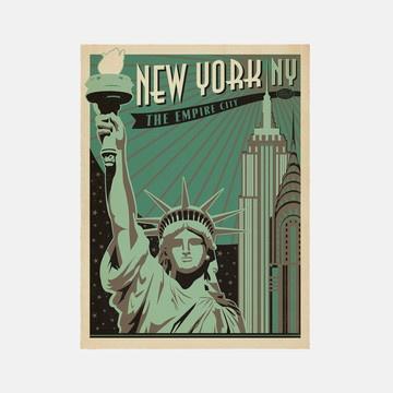 vintage style print nyc