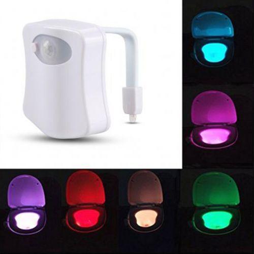 LED WC détecteur de mouvement - 9,90 € - Le module LED avec détecteur de mouvement pour lunette WC aux couleurs changeantes. à petit prix, plus d'infos sur Planete Discount