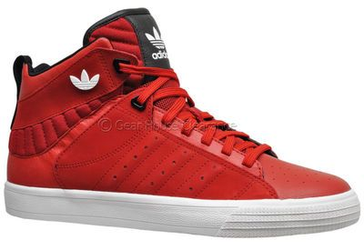 Adidas Originals Freemont Mid Mens Leather High Top Shoes Red ( NEW w/ Box )