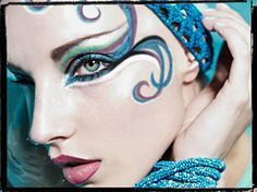 synchronized swimming makeup - Google Search