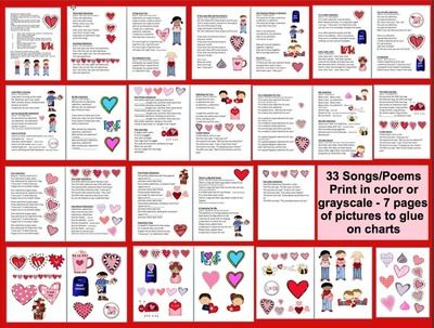 Valentine's Day Poems and Songs from The Teachers Post on TeachersNotebook.com -  (25 pages)  - Valentine's Day Poems, Valentine's Day Songs, Valentine's Day Shared Reading, Valentine's Day Poetry