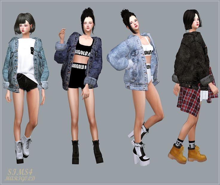 Sims 4 Jean Jacket Accessory Moderne Sch 246 Ne Jacken