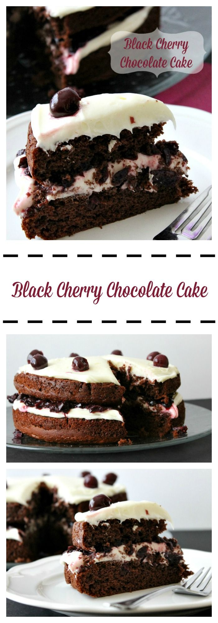 Black Cherry Chocolate Cake (+ a giveaway) - theBitterSideofSweet