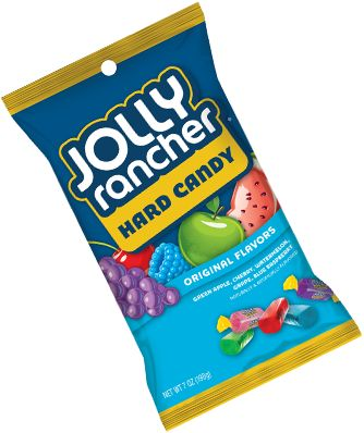 Wake up your taste buds with Untamed Fruit Flavor! JOLLY RANCHER Hard Candy comes in apple, blue raspberry, cherry, watermelon and grape.