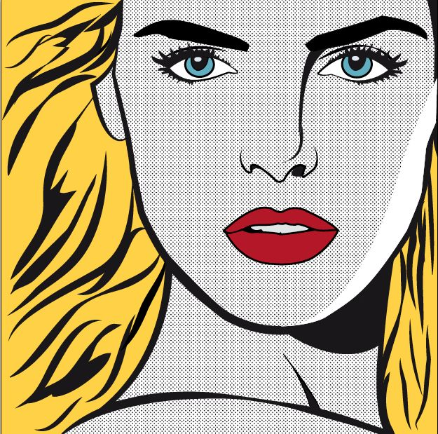 Roy Lichtenstein inspired pop art | Buthaina Designs