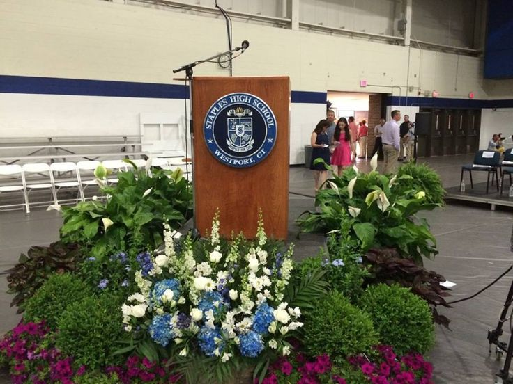 blue podium flowers - Google Search