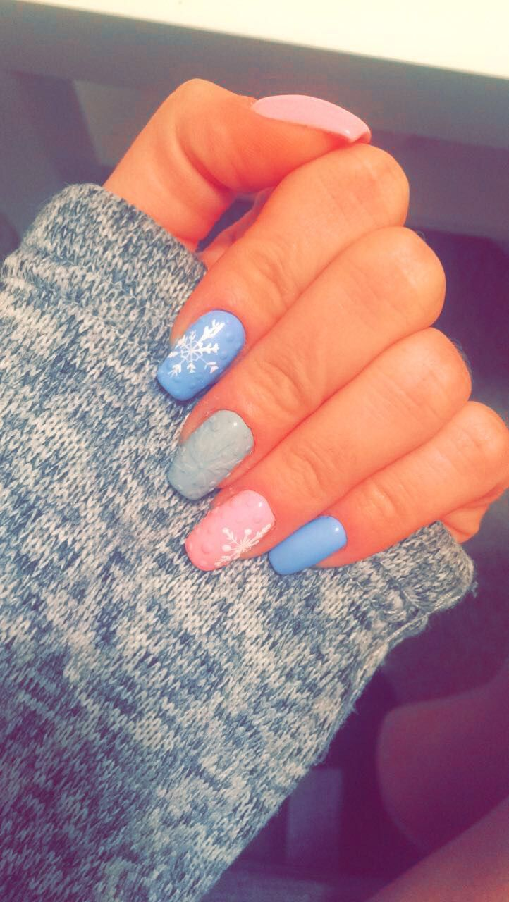 57 best winter nails☔ images on Pinterest | Nailart, Winter nails ...
