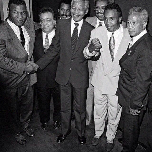 Nelson Mandela, Mike Tyson, Sugar Ray Leonard & friends