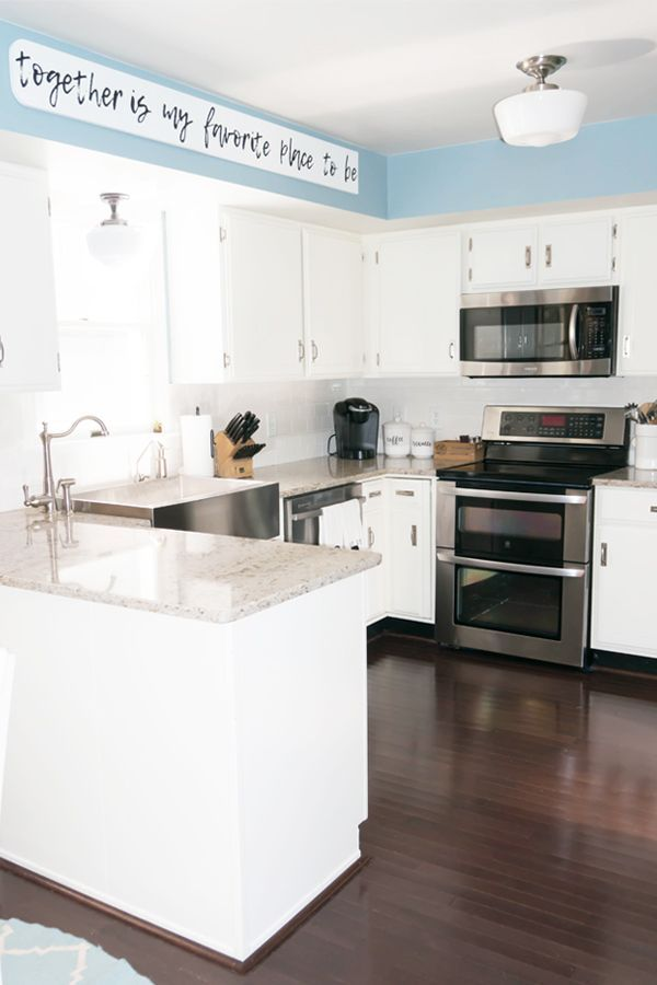 Modern Farmhouse Kitchen Remodel Reveal - 80\u0027s Kitchen Renovation - Kitchen Renovation On A Budget