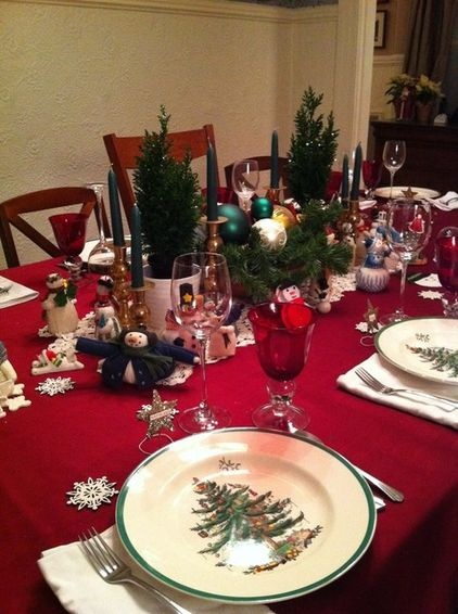 Christmas tree spode with snowmen Tablescapes by Houzzers  : 6fda7f46bfb511d008d57b0b7b532e8c from www.pinterest.com size 422 x 566 jpeg 92kB