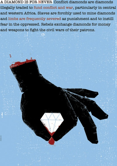 POSTER TO PROMOTE AWARENESS ABOUT CONFLICT DIAMONDS
