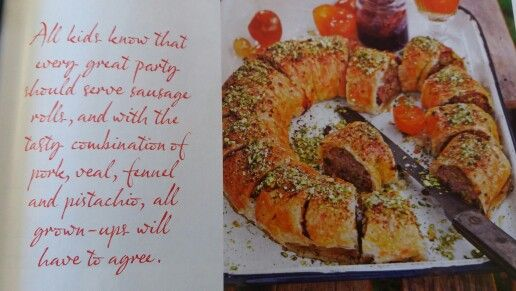 Veal, pork and pistachio sausage roll DH84 p113