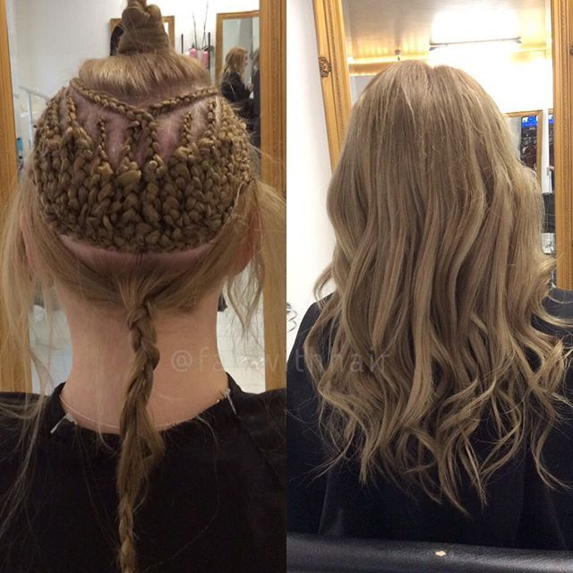 full weave with brazilian hairextensions