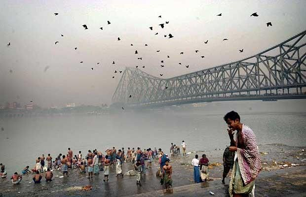 The holy or sacred river Ganges in Kolkata (Calcutta), India