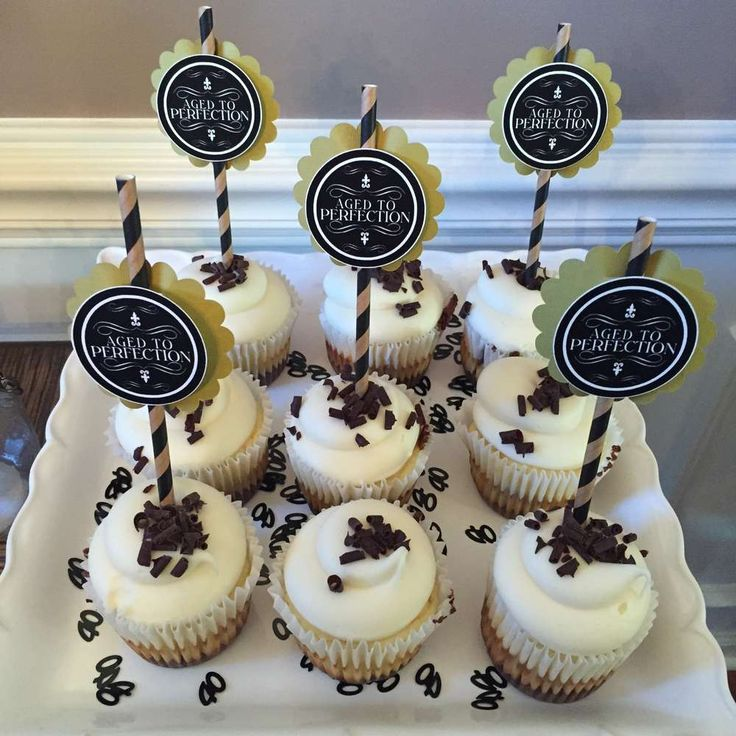 40th birthday party cupcakes! See more party planning ideas at CatchMyParty.com!