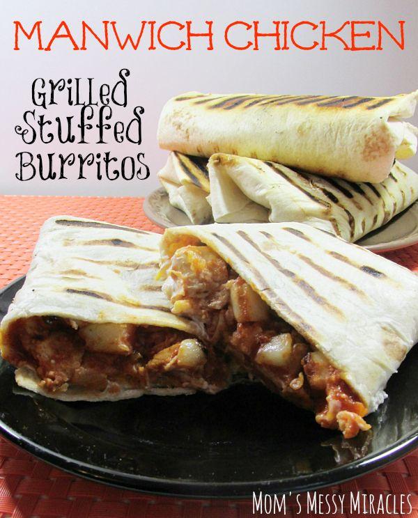 Manwich Chicken Grilled Stuffed Burritos