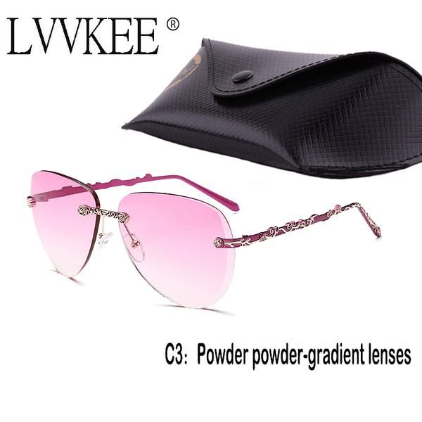lvvkee Women Sunglasses Women Brand Designer Rimless Sunglasses De Sol Mujer Luxury Retro Rose Gold Sun Glasses for Womens 937