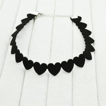 Чокер - Романтичный  Черный