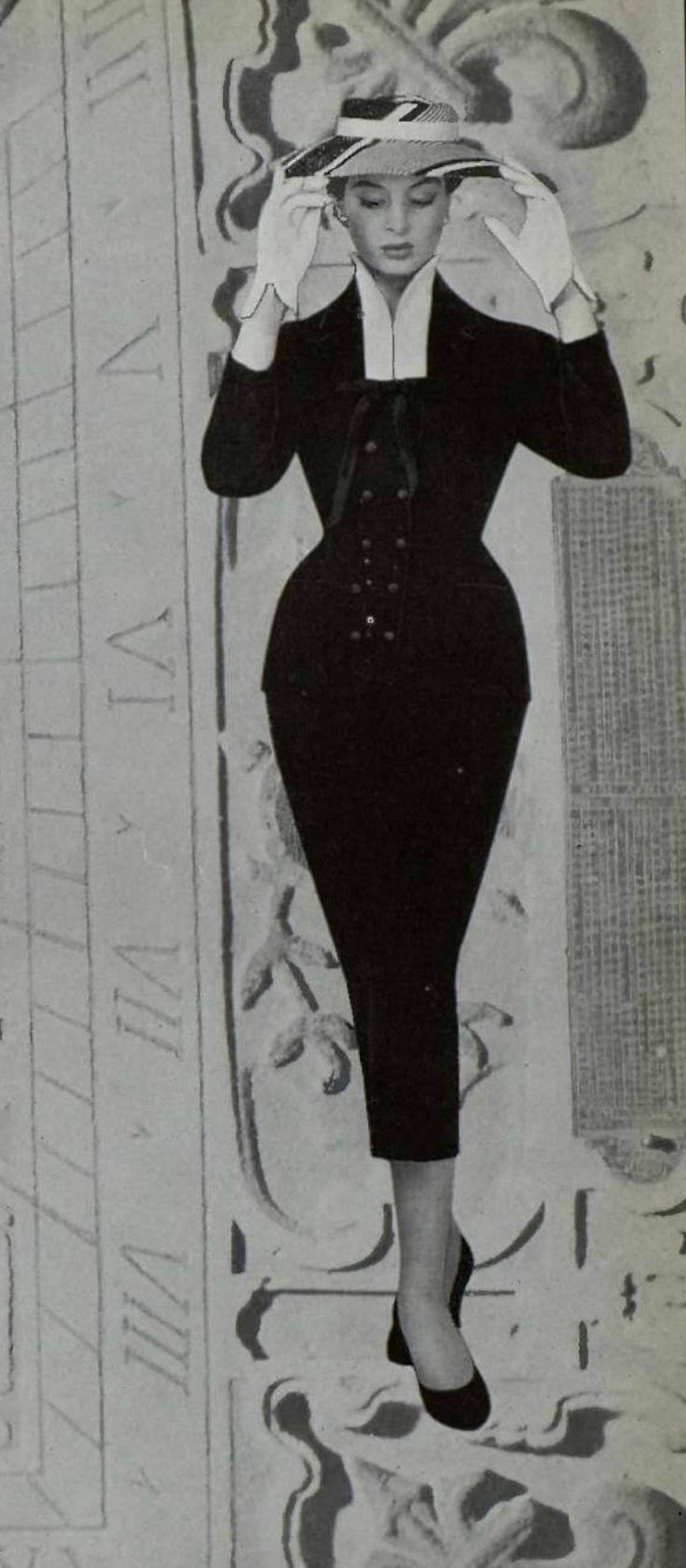 https://flic.kr/p/edqcFw | ensemble 1953 | Ensemble. Bernard Sagardoy. L'art et la mode 1953.