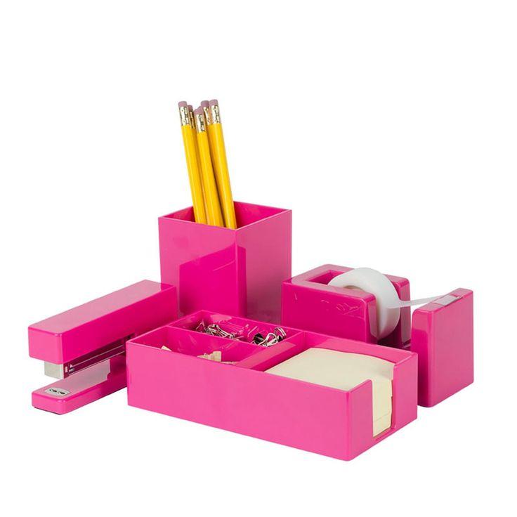 supplies desk fun office pink decor accessories home cute buy also