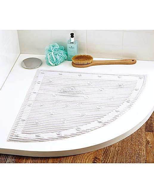 Quadrant Stay Put Safety Bath Mat | House of Bath