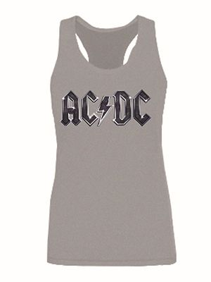 Stage Rock Band AC/DC Womens Tank Tops Girls Fashion Vest Tops Ladie's Sleeveless Quality S M L XL 2XL Custom Crop Top