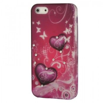 Diamond Hearts Cute Case For iPhone 5
